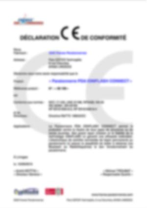 af-Certificat CE_PDA_CONNECT