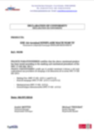 af-Declaration tests marquage et tests mecaniques MACHNG60TF