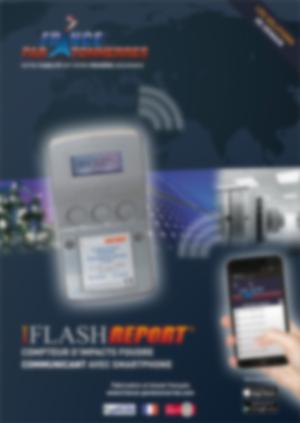 af-PLAQUETTE IFLASH REPORT compteur d'impact foudre connecté avec smartphone