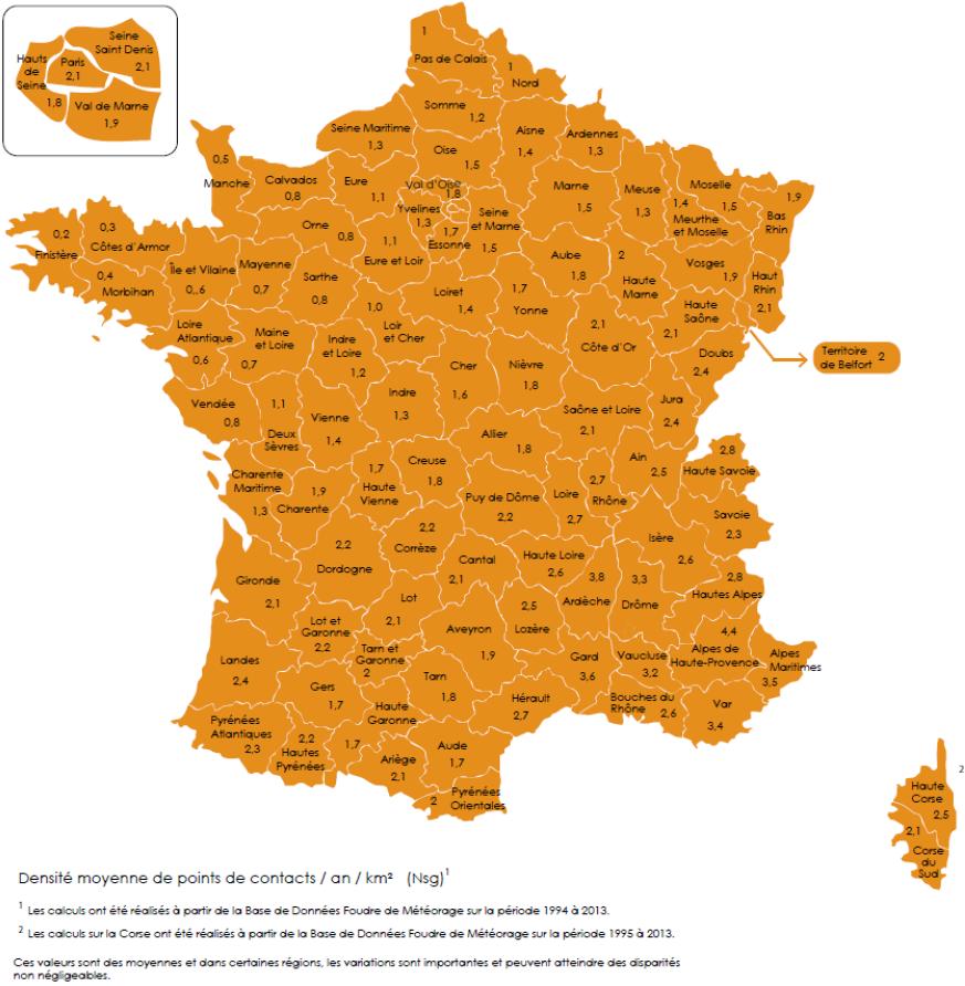 Carte Nsg France