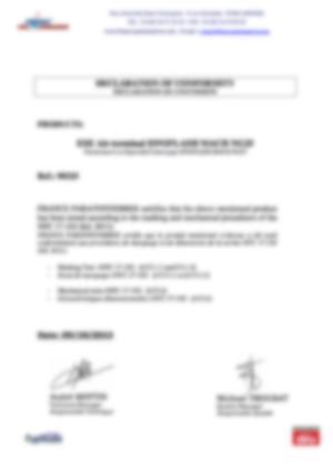 af-Declaration marquage et tests mecaniques MachNG25