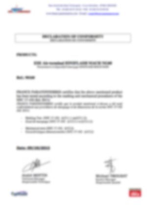 af-Declaration marquage et tests mecaniques MachNG60